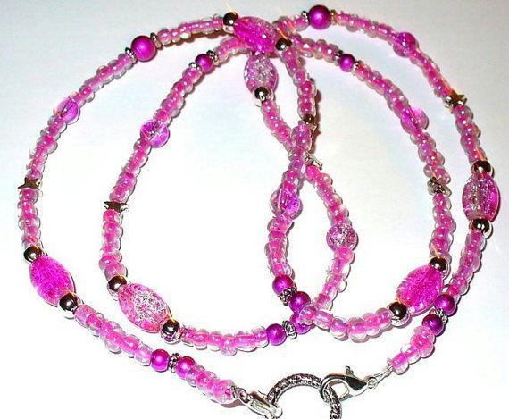 1 Brillenkette flieder lila 77cm 37 von MeinSchmuck auf Etsy
