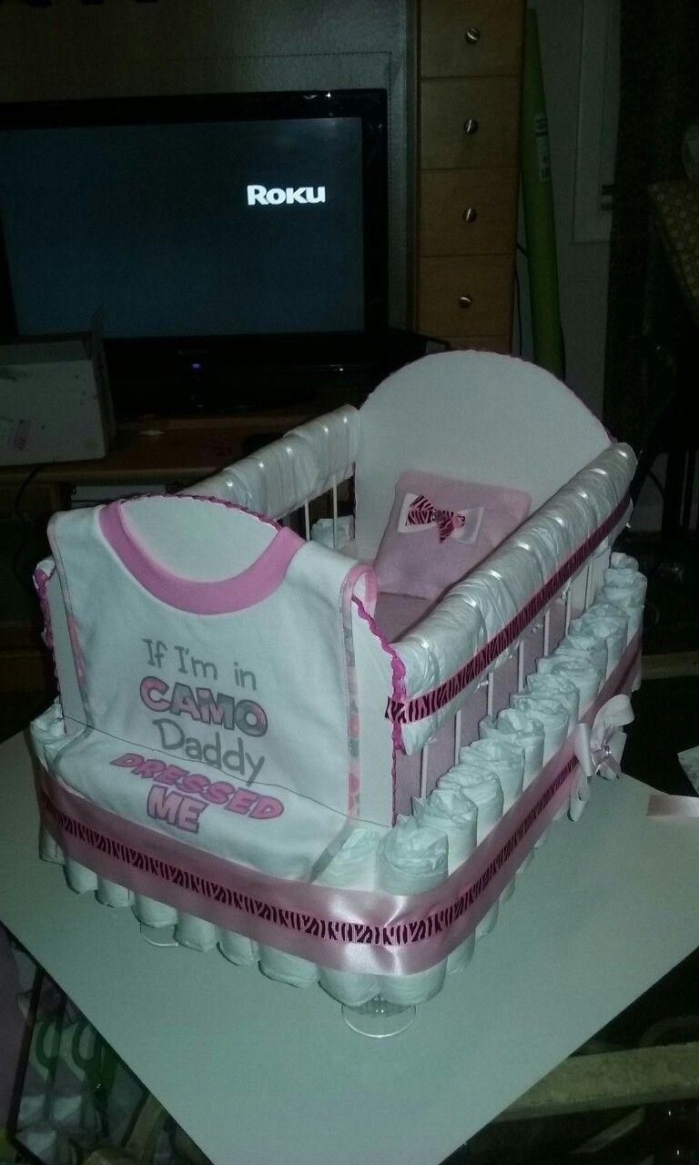 Baby Shower Diaper Baby Crib Diaper Cakes Baby Shower