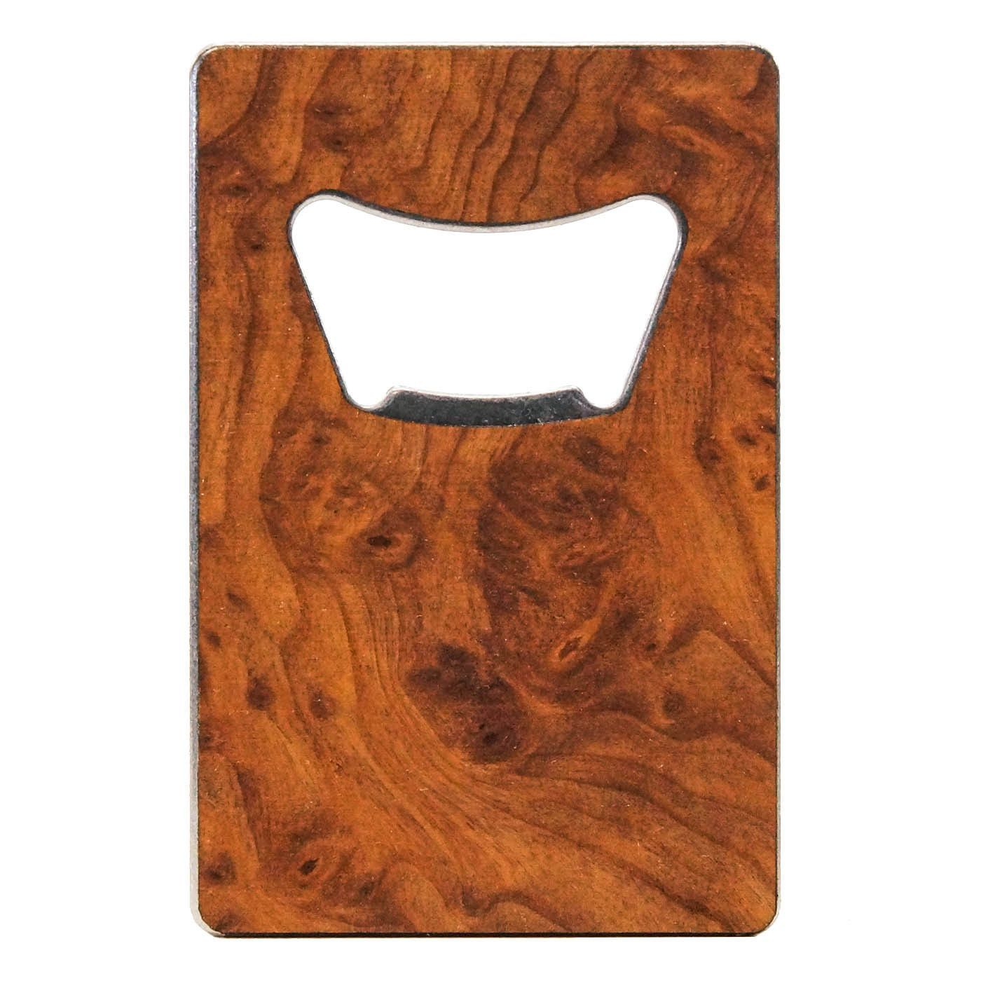Premium Wood Credit Card Bottle Opener Credit Card Bottle Opener