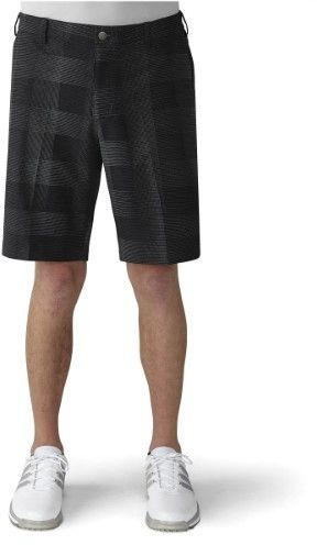 adidas 2016 Men's Ultimate Competition Plaid Golf Shorts (Black/DGH Solid Grey - 30 inches)