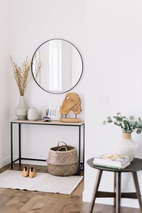 Wandspiegel, minimale Einstiegsideen, minimale ...