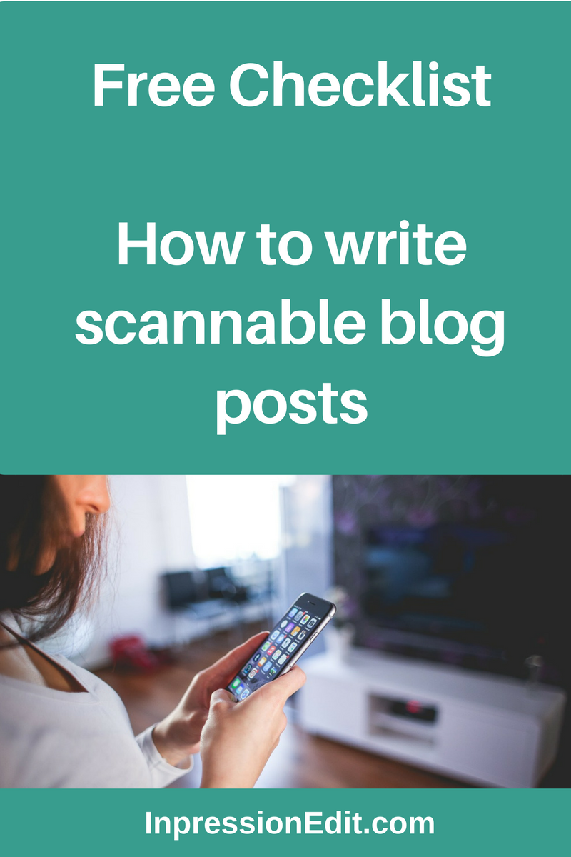 How to Make Your Blog Content Scannable recommendations