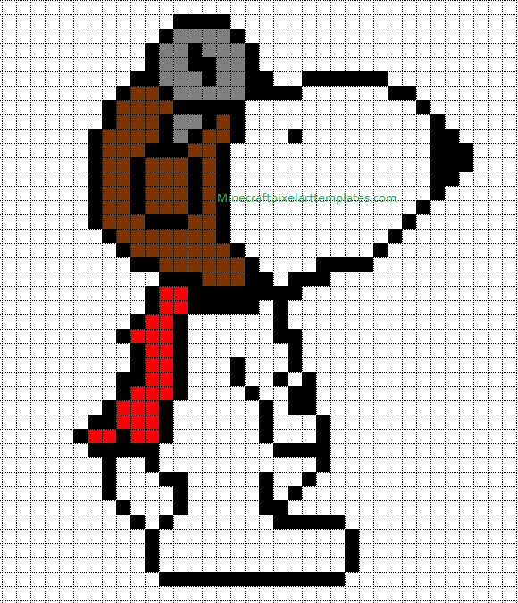 Minecraft Pixel Art Templates  Snoopy