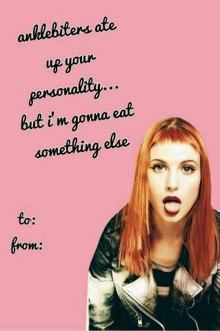 Band Valentine S Day Card Valentines Memes Meme Valentines Cards Paramore