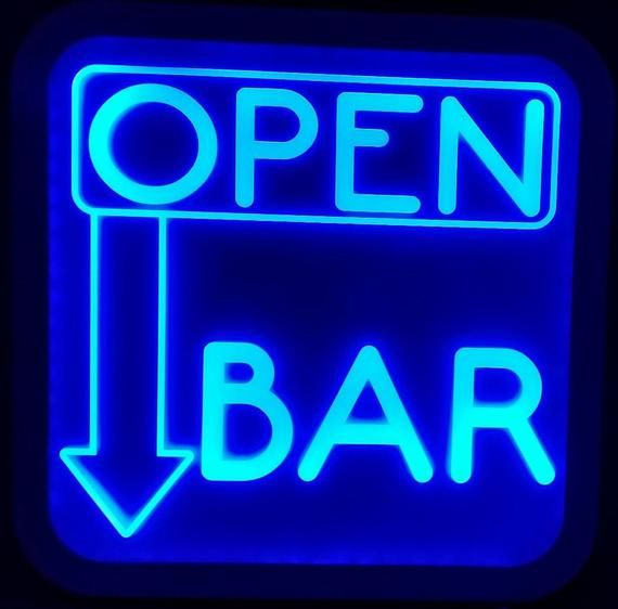 Custom Open Bar Led Wall Sign Neon Like - Color Changing