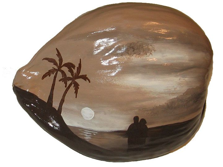 i loved painting this coconut    it was for a 15th