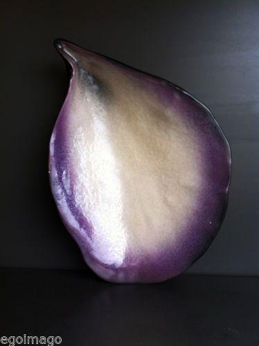 JOLIE COQUILLE D'HUITRE signée POL CHAMBOST made in France NACRÉE VIOLINE in Céramiques, verres, Céramiques françaises, Grands céramistes - XXème s.   eBay