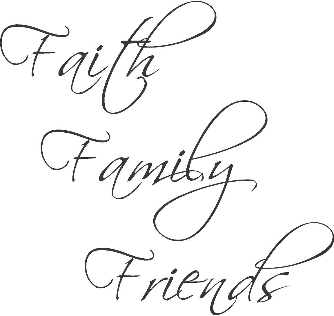 Faith family friends wall decal inspirational pinterest wall im realising the importance of this more and more each day publicscrutiny Choice Image