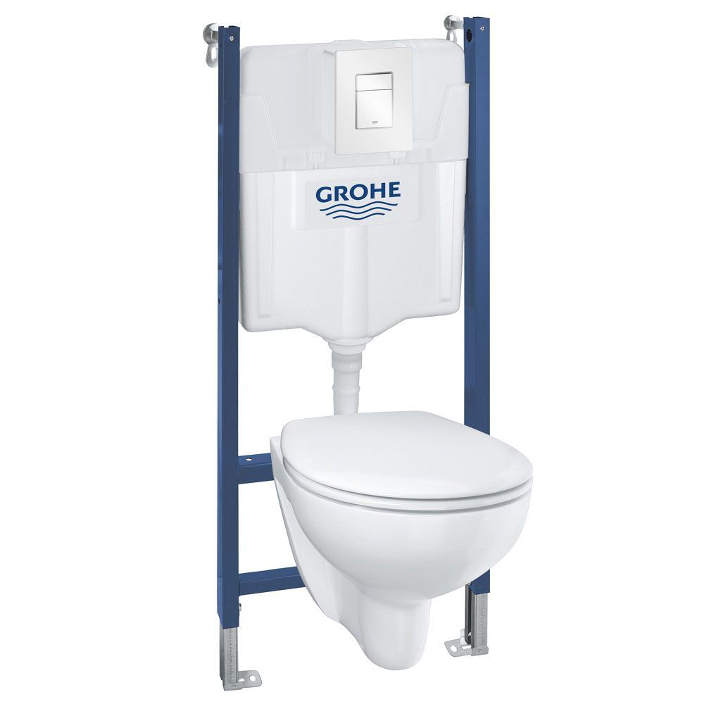 Grohe Solido Bau Skate Cosmo Complete Wc 5 In 1 Pack Victorian Plumbing Uk Wall Hung Toilet Grohe Toilet