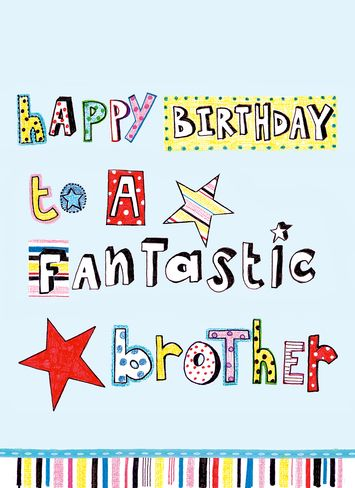 Personalised brother birthday greeting card happy birthday brother personalised brother birthday greeting card happy birthday brother paper salad personalised greeting cards m4hsunfo