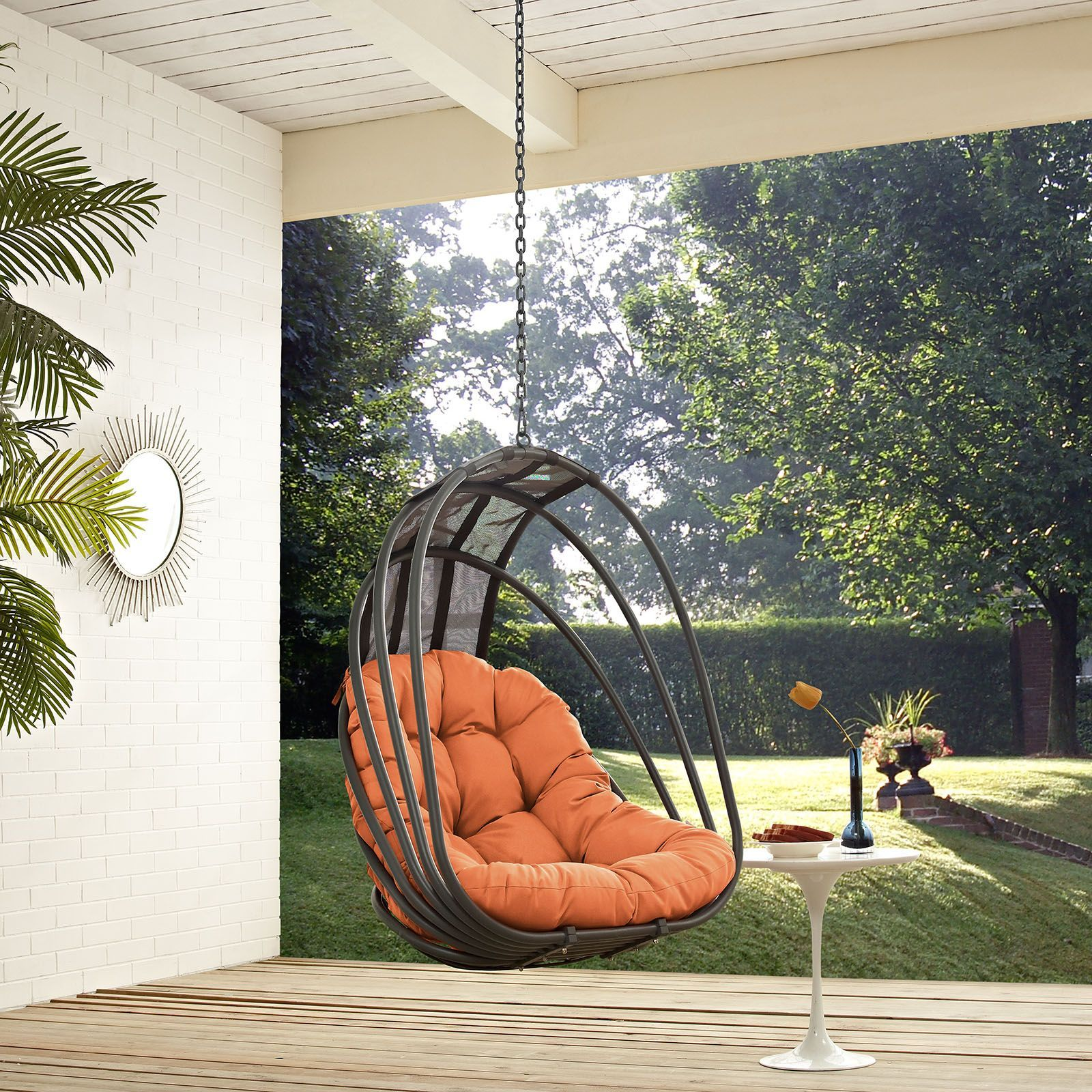 Whisk outdoor patio swing chair without stand orange whip up