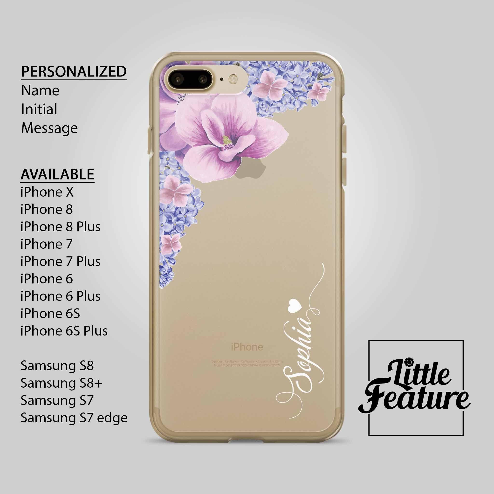 new concept c53a4 d7e1c initial iphone caseflower iphone 6Clear case iPhone 6+name iphone x ...