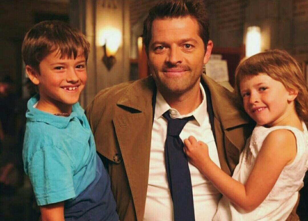 West, Cass and Maison   Misha collins kids, Misha collins ...