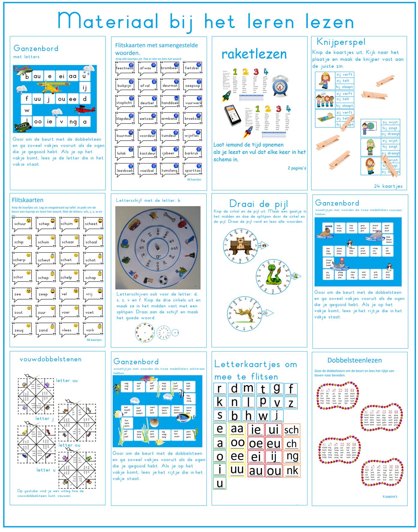 Super Veel verschillende spelletjes om te leren lezen in groep 3   Leren KH-73