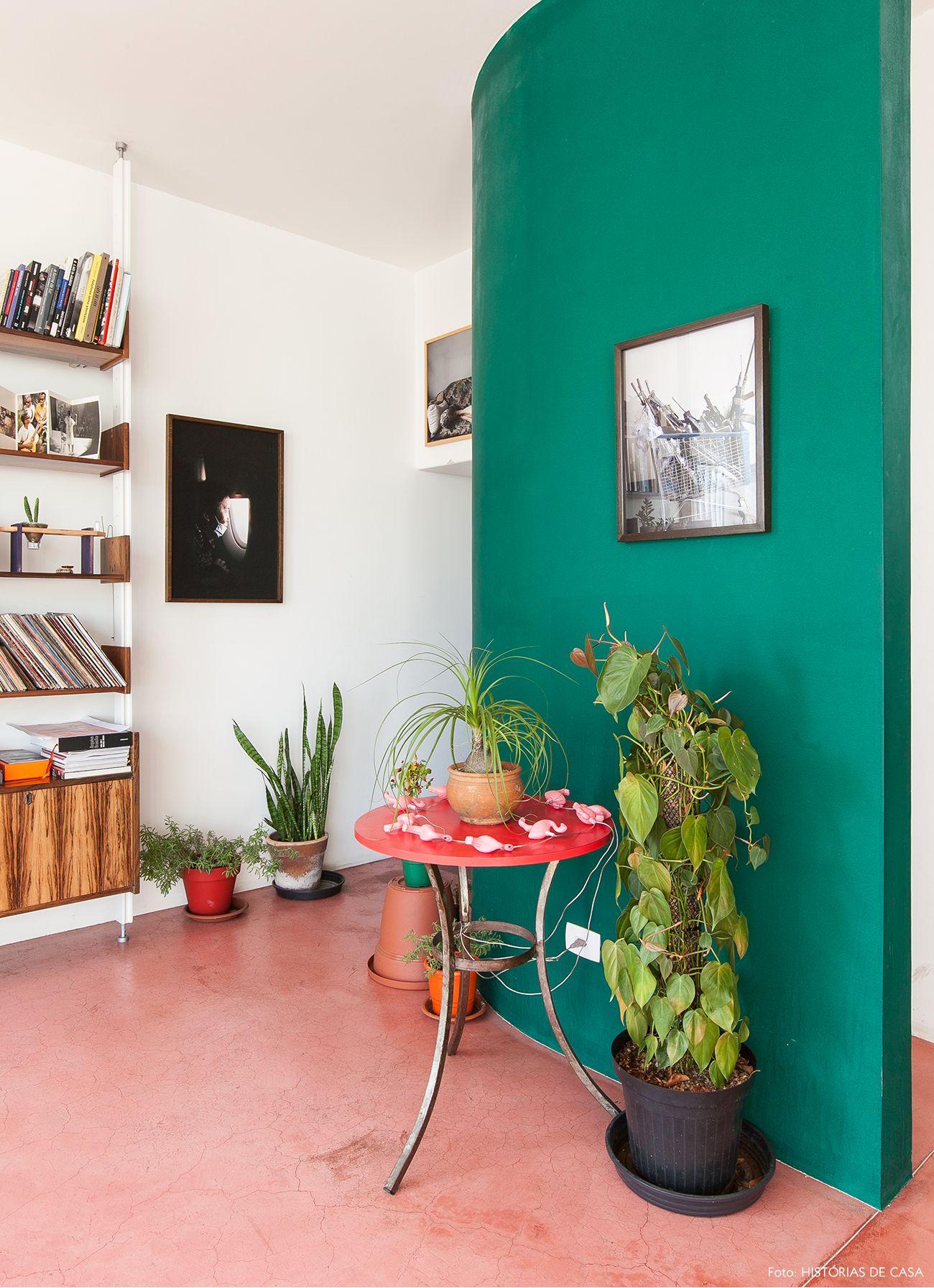 Boas energias paredes pintadas de verde piso de cimento for Fotos paredes pintadas