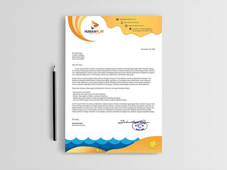 Travel Company Letterhead Template Advertisement 24 365