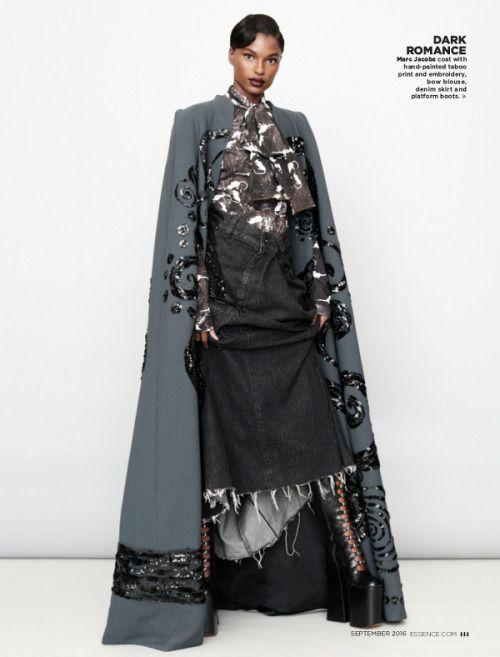 Fierce fashion Tsheca White for Essence 2016 photography