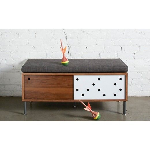 Long Low Lean And Totally Retro The Too By Blu Dot Twilight Entryway Bench Is Going To Make The Best First Imp Bench With Storage Entryway Bench Retro Bench