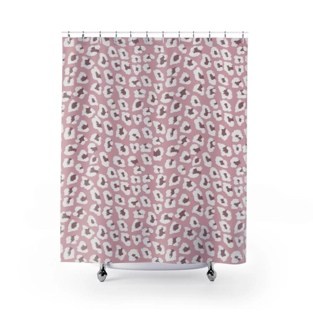 Pink Leopard Print Shower Curtain Kellisi Printed Shower