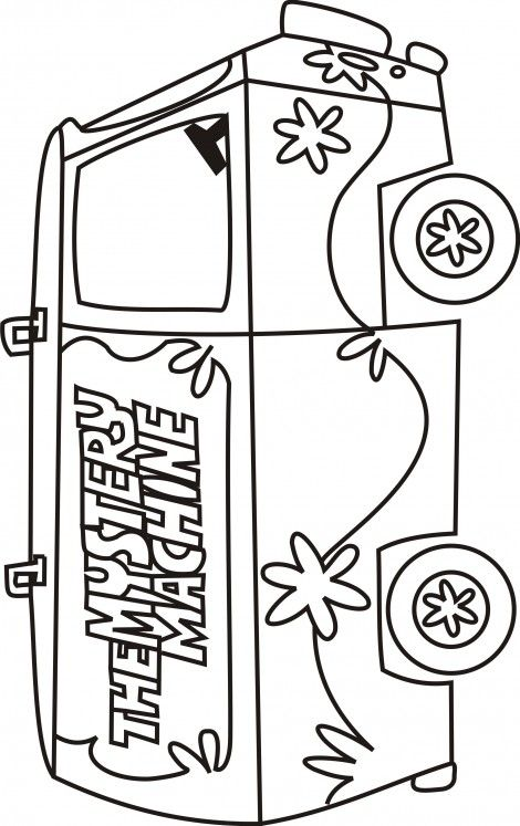 Scooby Doo Mystery Machine Is Free Colouring Picture Scooby
