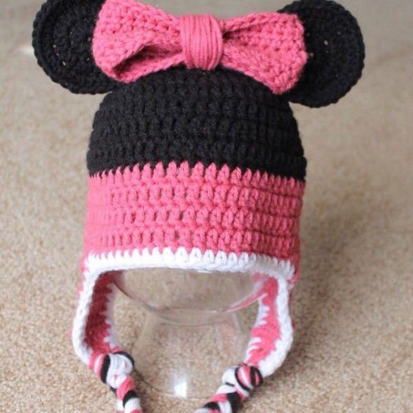 audra_hooknowl crochet minnie hat | mini mouse | Pinterest | Gorros ...