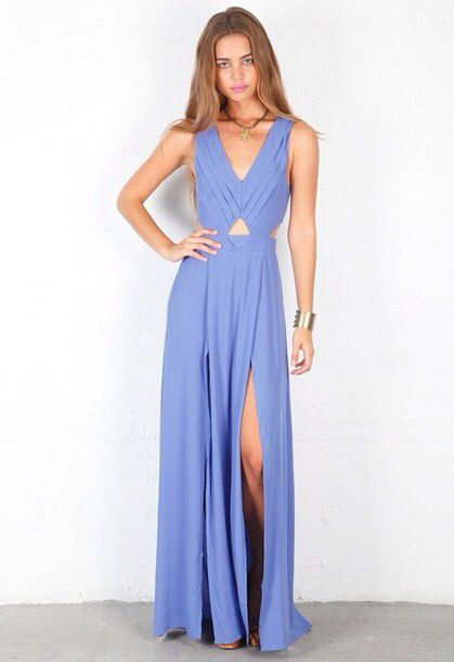d6a6143a791 Periwinkle Blue Formal Dress