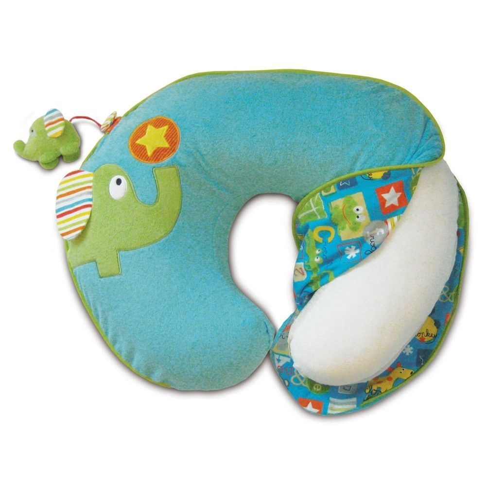Boppy Luxe Pillow With Slipcover, Animal Playground