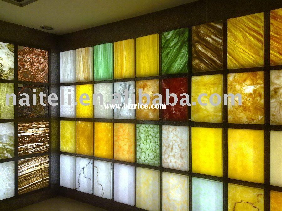 Interior Back Lit Artificial Transparent Stone This Is What I Want