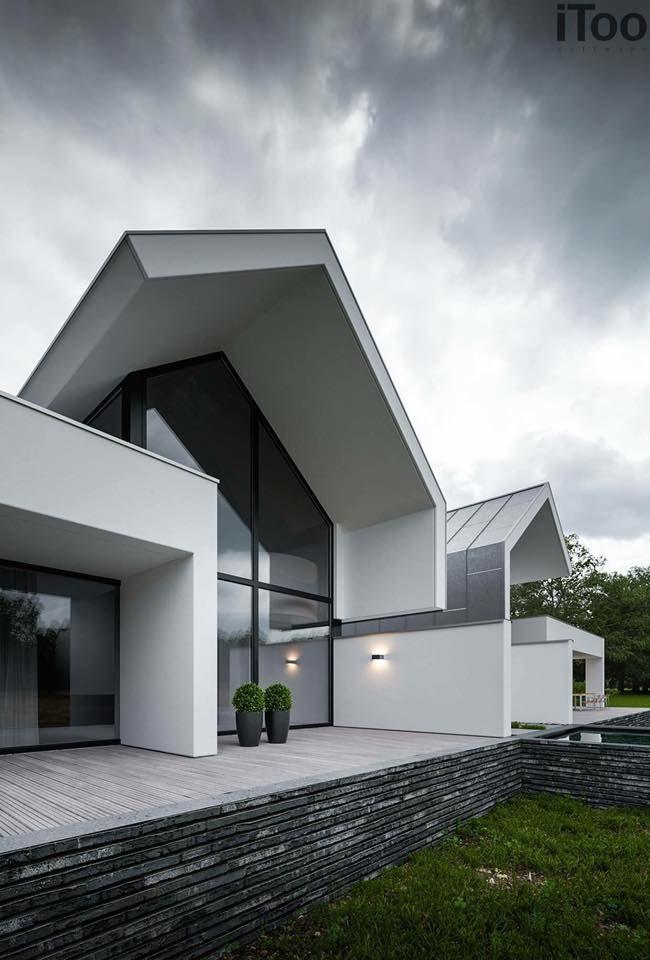 Amazing twin villa design architektura pinterest for Minimalistisches haus grundriss