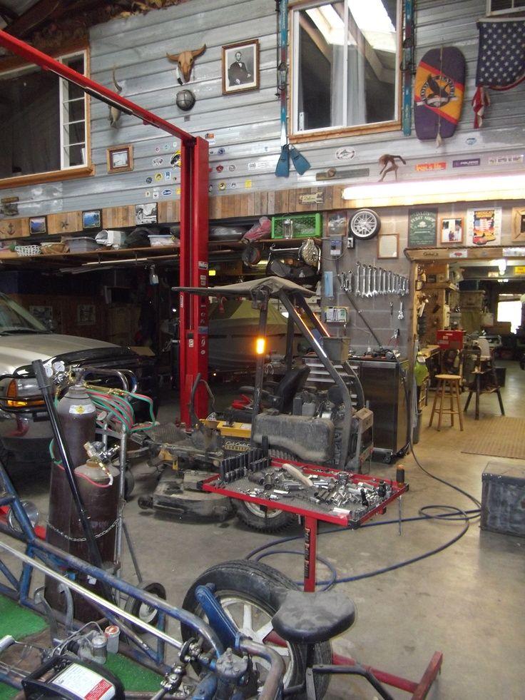 Workspace Ideas Garages Shops And Workspaces In 2019 Garage Workshop Garage Garage Loft