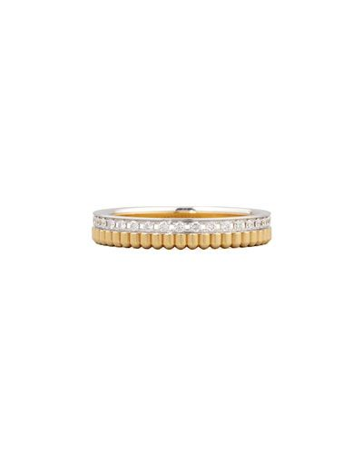 Boucheron Quatre Follies 18k Gold Band Ring, Size 7