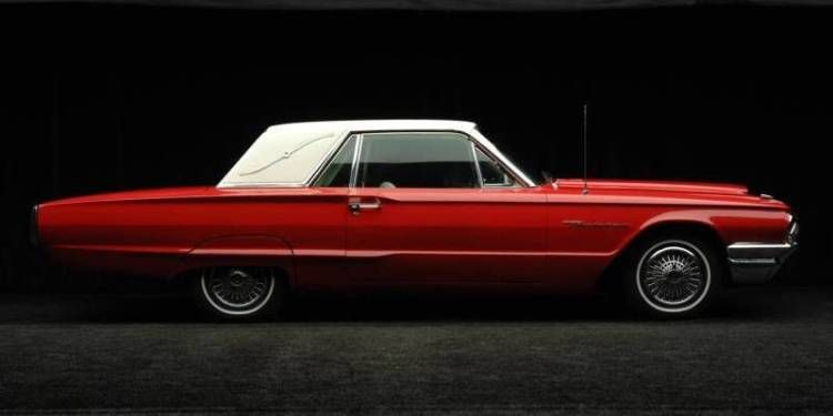 Red 1964 Ford Thunderbird Coupe With Images Ford Thunderbird