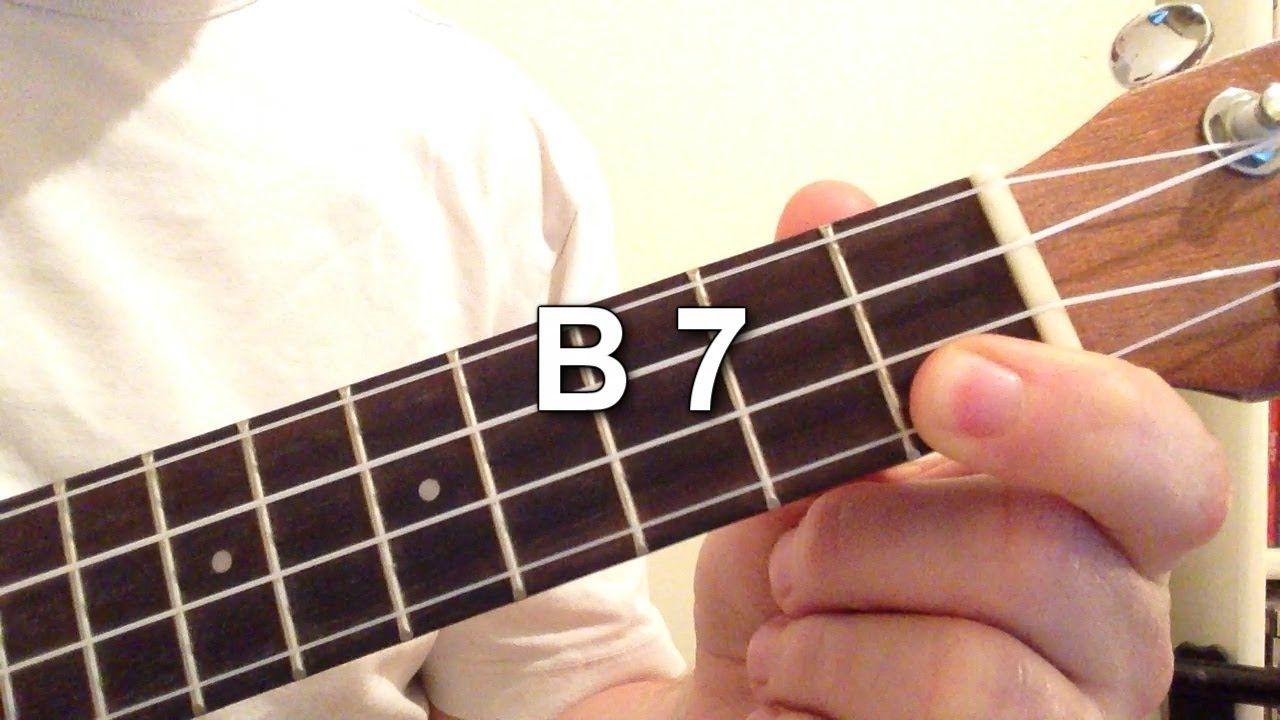How To Play B 7 Chord On The Ukulele Ukulele Pinterest