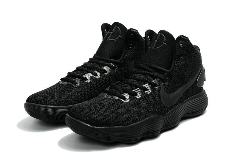 Official Latest Nike Hyperdunk 2017 Mid Triple Black Mens Basketball Shoes  2018 On Sale