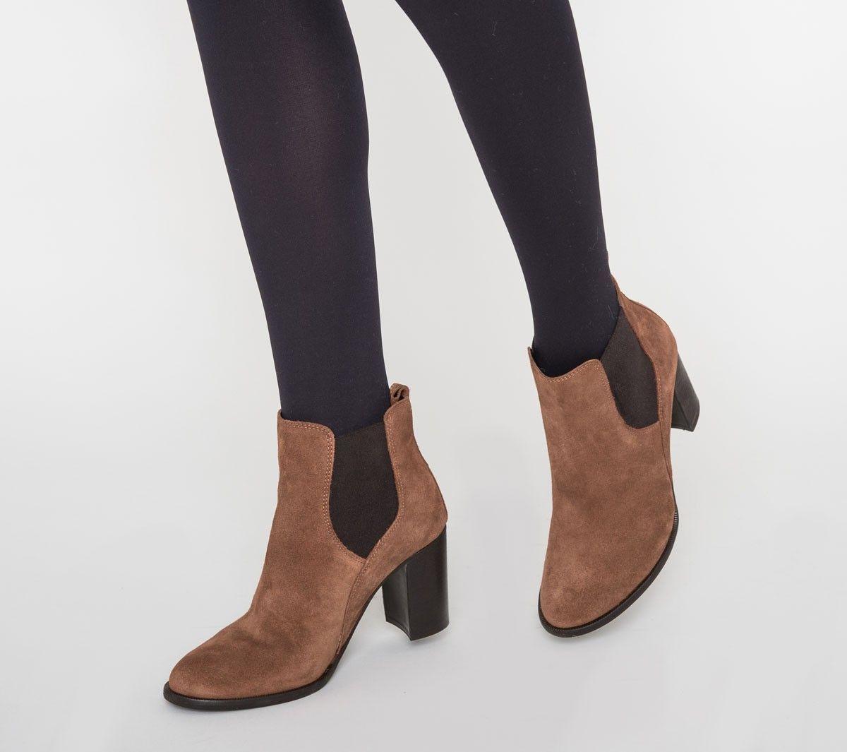 chelsea boots talon cuir marron fashion pinterest bottines et chaussure. Black Bedroom Furniture Sets. Home Design Ideas