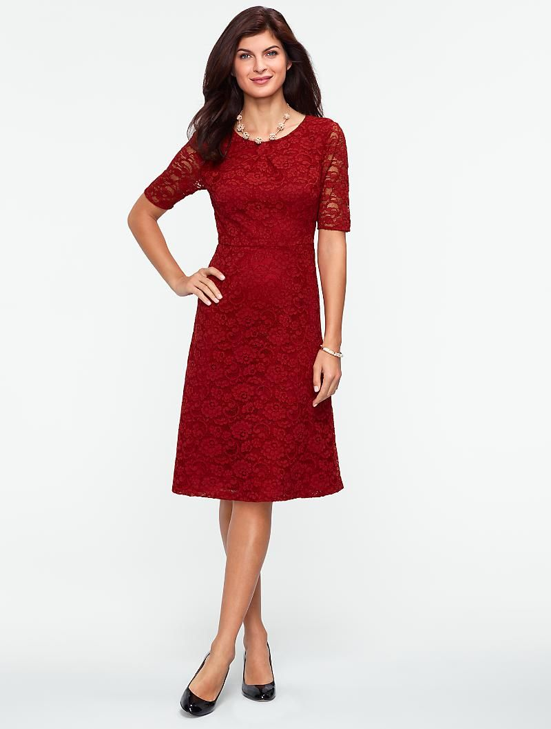Talbots Begonia Lace Dress Dresses Misses