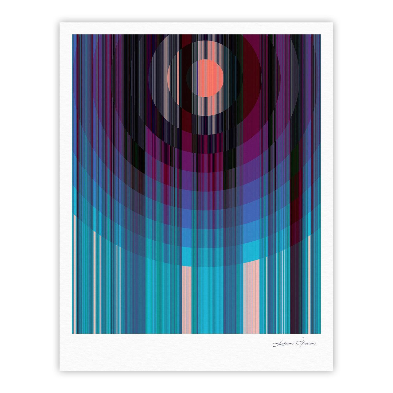 "Nina May ""Nova Sun"" Blue Geometric Fine Art Gallery Print"