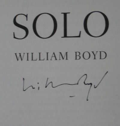 William Boyd's Signature (author of Any Human Heart, Waiting For Sunrise, Solo)