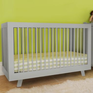 Babyletto Hudson 3 In 1 Convertible Crib In Grey Convertible