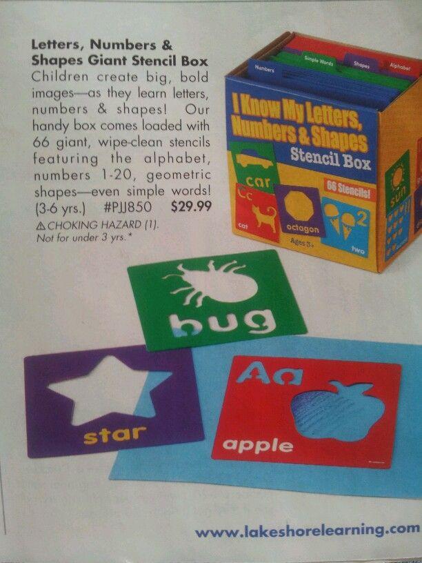 Stencils in a box {www.lakeshorelearning.com}