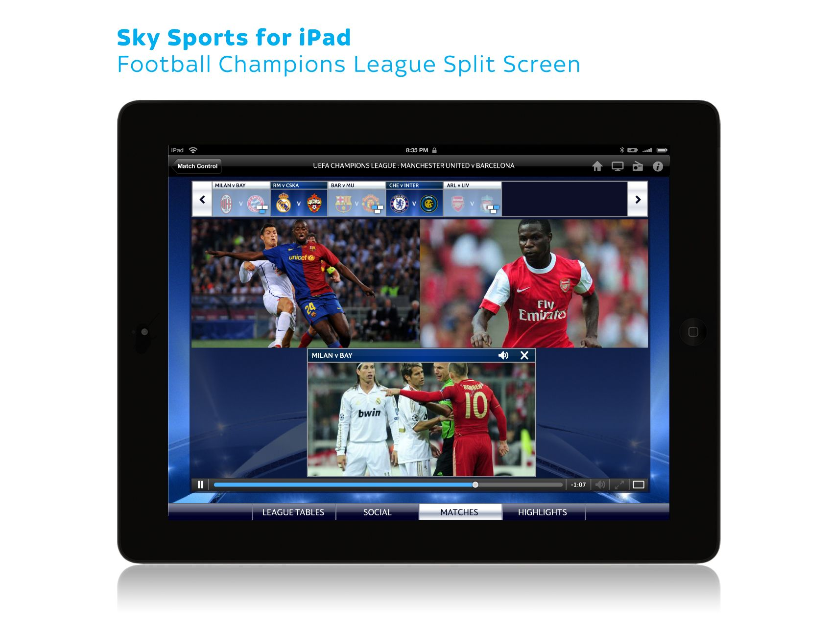 Sky Sports for iPad Football Champion's League 04