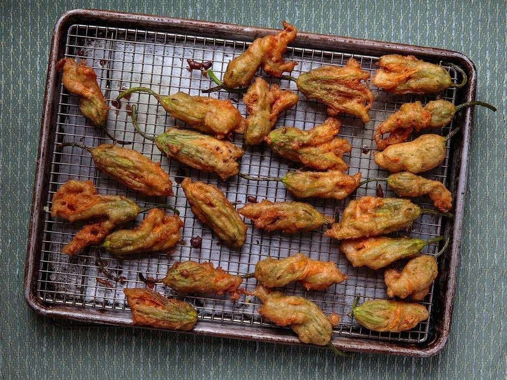 Fried AnchovyStuffed Zucchini Blossoms Recipe Zucchini
