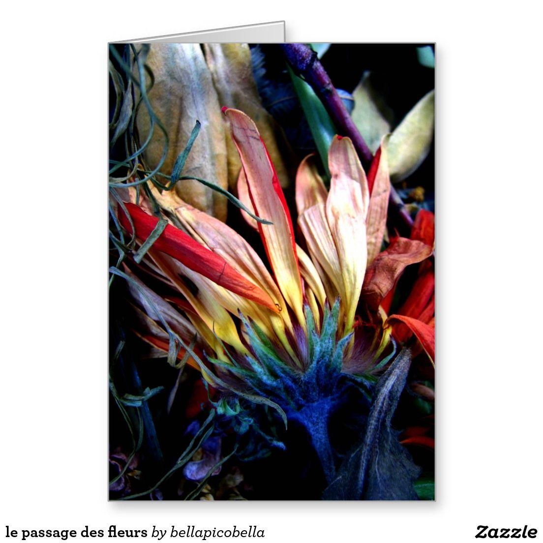 le passage des fleurs greeting card