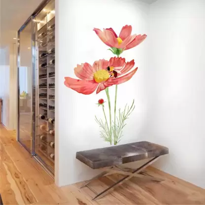 Rawpockets Large Pvc Sticker Price In India Buy Rawpockets Large Pvc Sticker Online At Flipkart Com In 2020 Wall Stickers Bedroom Flower Wall Stickers Wall Sticker