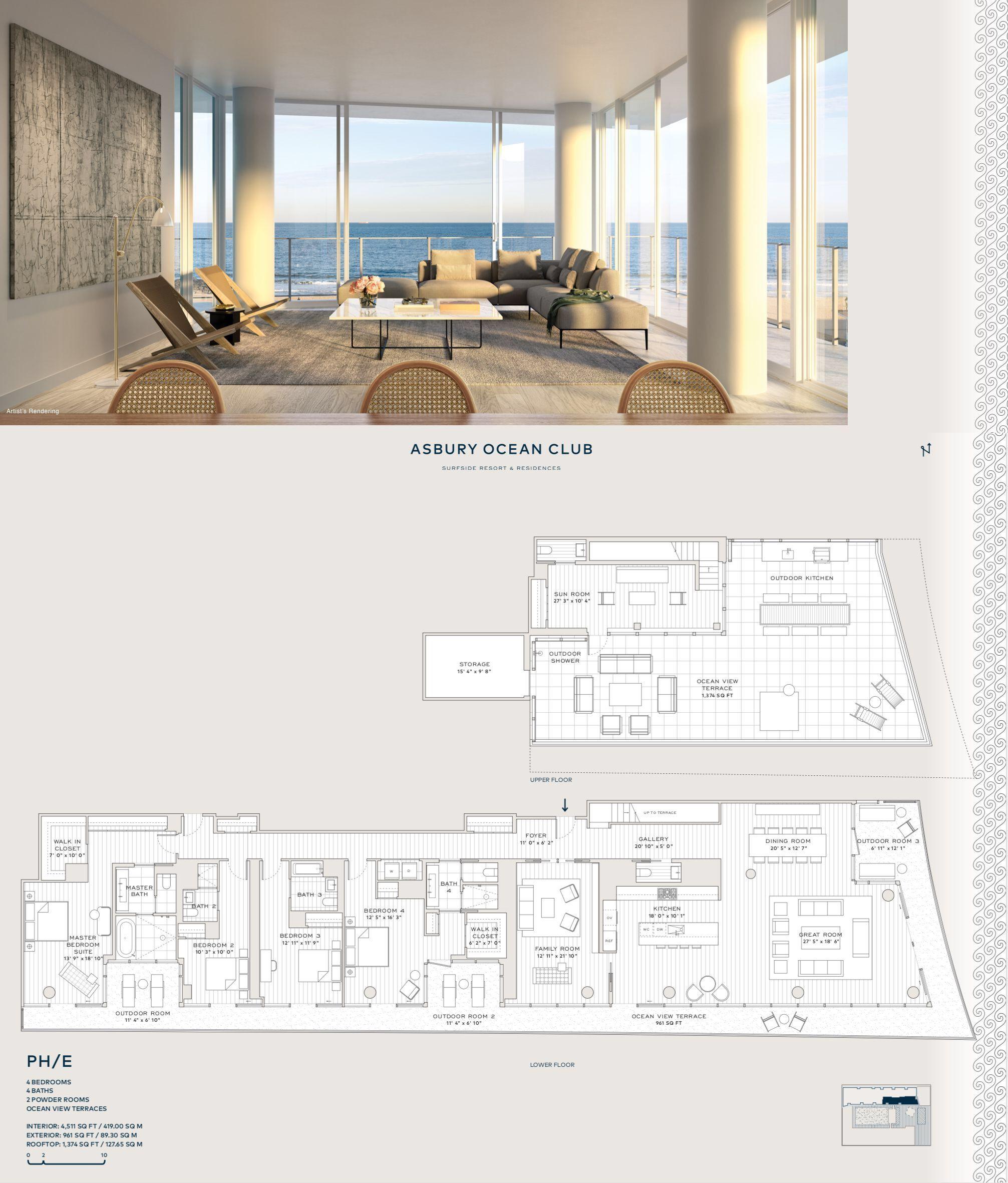 Asbury Ocean Club Surfside Resort Residences Ph E City Living Apartment Apartment Floor Plans Bathroom Design Layout