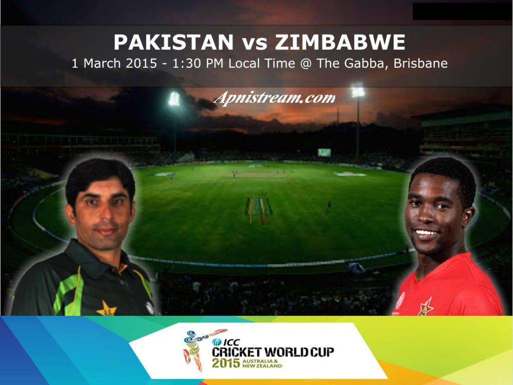 Pakistan vs Zimbabwe Live Match Streaming of World cup 23