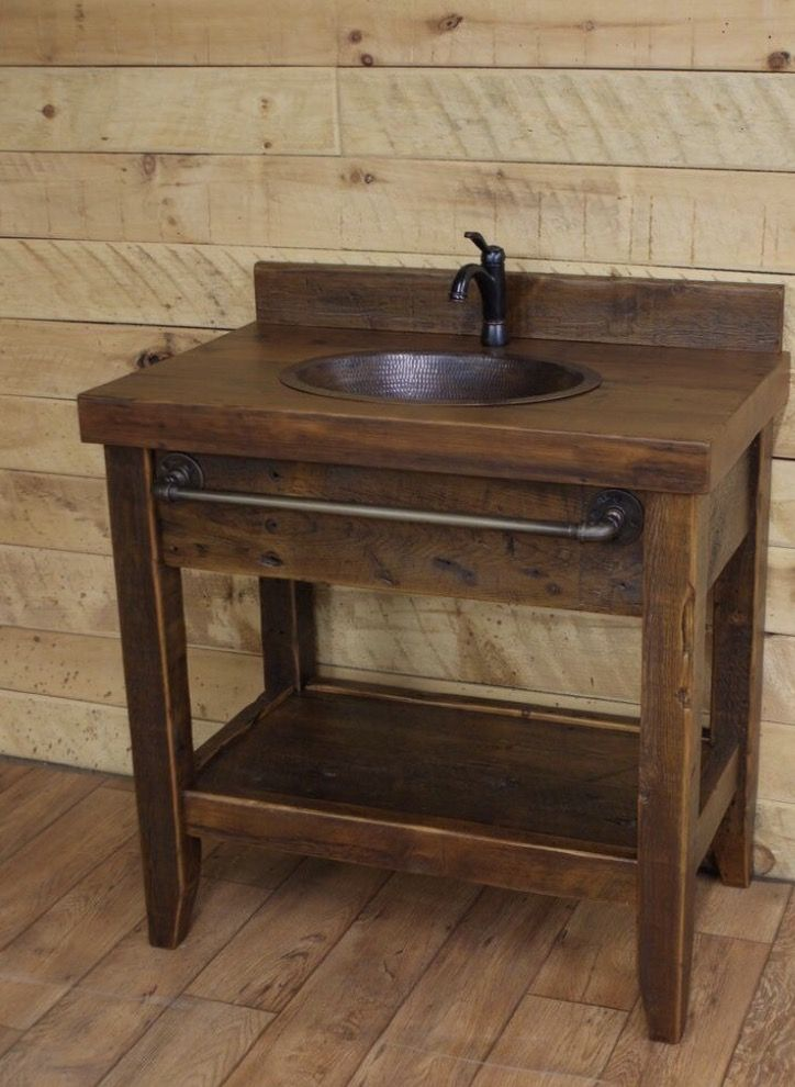 Bathroom Vanity / Vanity / Rustic Vanity / Farmhouse Vanity  #bathroomvanitydecor