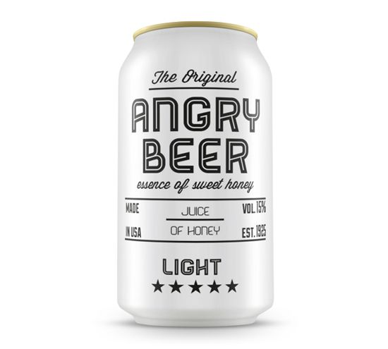 I have never seen beer in a white can but I must say, this looks very cool. It is definitely attention grabbing.