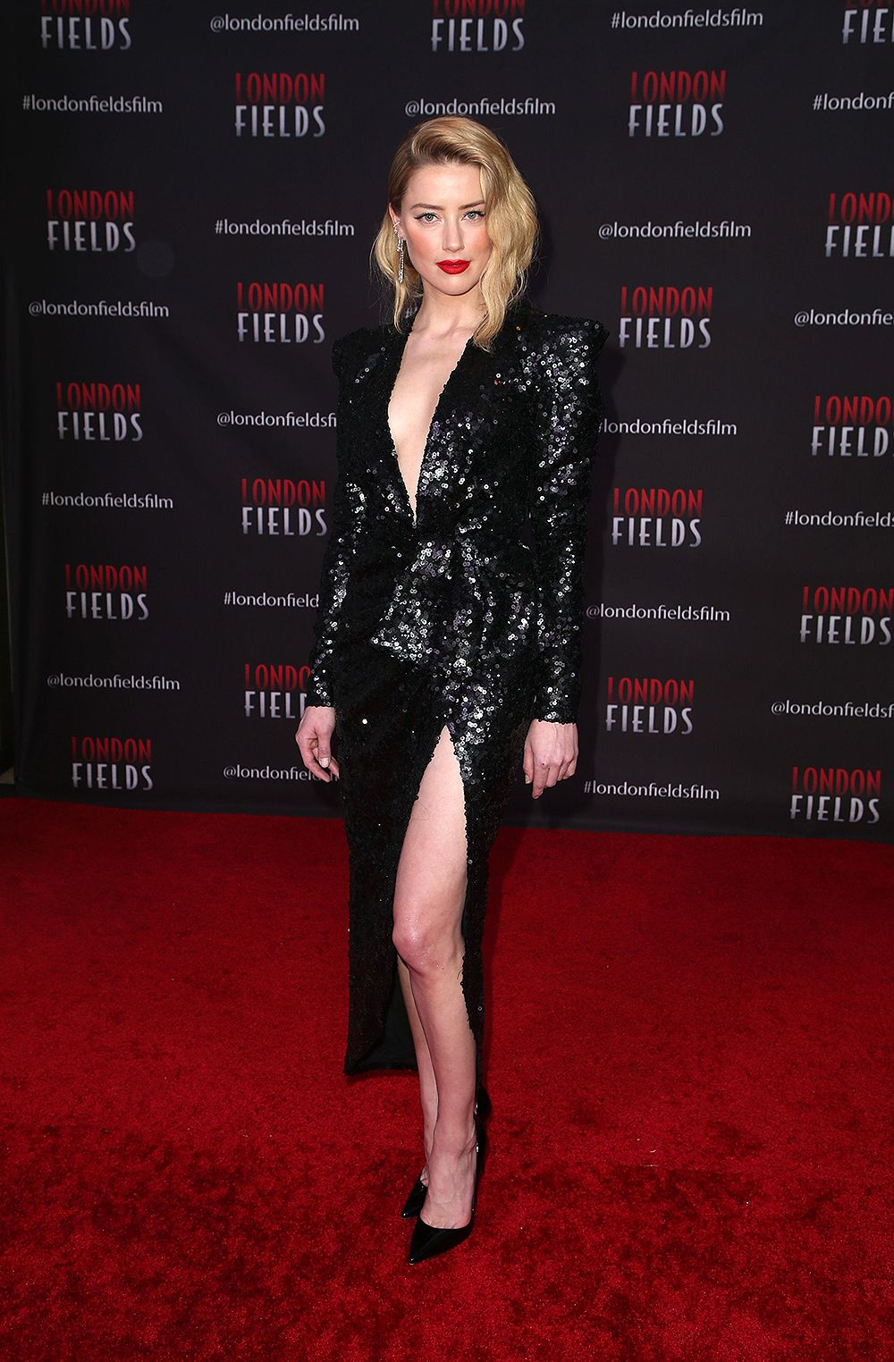 Amber Heard Pics Amber Heard London Fields Long Sleeve Dress