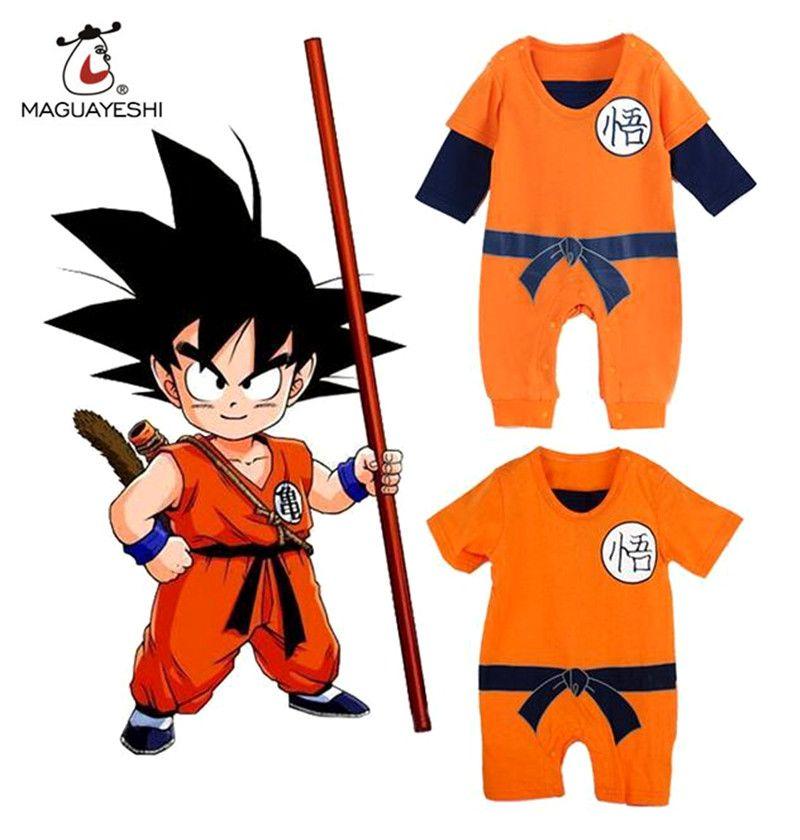 Cheap Dragon Ball GOKU Mamelucos Del Bebé Recién Nacido Bebé Ropa de Los  Muchachos Del Niño d98a642b6373